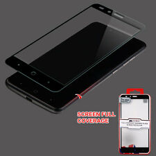 For ZTE Zmax Pro Z981 FULL COVERED Tempered Glass Screen Protector Curved Guard