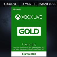 3 MONTH XBOX LIVE GOLD MEMBERSHIP MICROSOFT XBOX 360 / XBOX ONE FAST DISPATCH