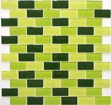 Glasmosaik mix kiwi hellgrün/grün/dunkelgrün Küche Wand Bad WB66-0506|1Matte