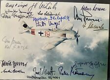 More details for multi signed photo- german ww2 luftwaffe pilots flighting aces- x 16