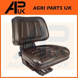 Quality Black Tractor Dumper Suspension Seat with Height & Weight Adjustment