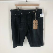 Flypaper Blue Mens SZ 36 Denim  Dark Blue Jean Shorts New With Tags