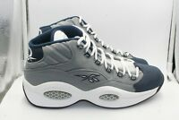 Reebok Question Mid DS Sz 11 W Receipt Grey Navy Blue White Iverson Georgetown