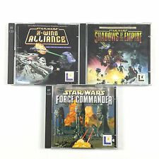 Lot 3 Jeu Star Wars Force Commander, Shadows of The Empire, X-wing Alliance PC