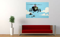 Banksy Happy Choppers Helicopters Wall Art Canvas Print Picture 12x8 inch A4