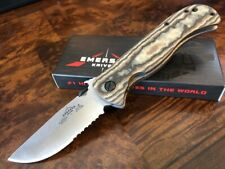 Emerson Knife Overland Renegade SFS Stonewash Serrated Edge Richlite