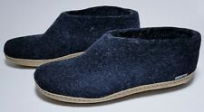 Glerups Wool Bootie Slippers, Charcoal, Size 44