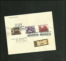 AUSTRIA 1937 TRAIN ISSUE SET OF 3 ON COVER 646-648