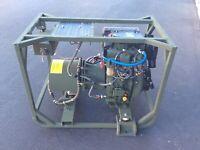 DEWEY  DIESEL GENERATOR L100V6 YANMAR 6.8 KW dc 24 alternator battery charger
