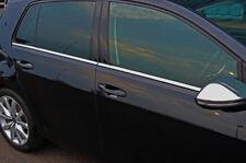 PORTA LATERALE CROMO Window Sill Copertine Trim Set Per Adattarsi Volkswagen Golf VII (2012+)