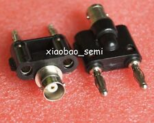 1pcs BNC female jack to two dual 4mm Banana binding male connector 1F2M Adapter