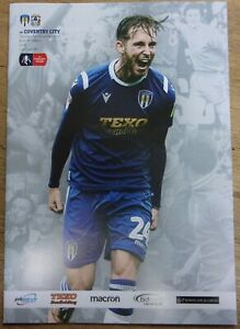 Colchester United v Coventry City ~ 2019/20 FA Cup Programme 9/11/2019