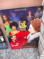 Madame Tussauds, Wegweiser zu Ausstellung, Auf Deutsch