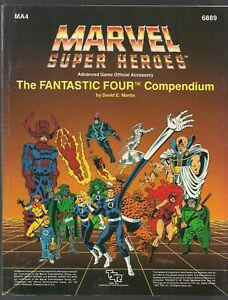 MARVEL SUPER-HEROES FANTASTIC FOUR COMPENDIUM 1987 TSR RPG 96pg MODULE MA4 #6889