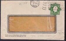 1928 Australia Kgv1 1d Embossed Vacuum Oil Company Pty Ltd Window Faced Cover