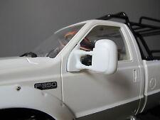 White L/R Rubber Side Mirror Tamiya RC 1/10 Ford F350 High Lift Juggernaut Truck