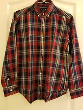Genuine Polo Ralph Lauren Boy Long Sleeve Red Blue Checkered Buttoned Down Shirt