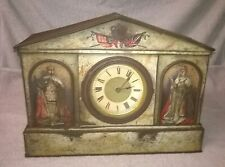 Vintage Antique king George V & Queen Mary Commerative Clock Tin, c1910