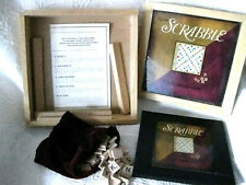 Wooden Bookshelf Scrabble Nostalgia Game Series Complete Parker Brothers 2002 DR