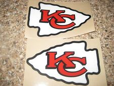 Kansas City Chiefs football helmet decals set
