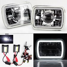 "7X6"" 6K HID Xenon H4 Clear Projector Glass CCFL Halo Headlight Conversion Dodge"