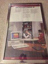 RARE! Original IBM Peronal Computer AT Retail Sales Poster Metal Frame