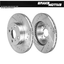 FRONT Drill Slot BRAKE ROTORS For 1993 - 2002 Chevy Prizm Toyota Corolla Prius