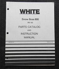 GENUINE WHITE SNOW BOSS 800 SNOWBLOWER SNOW THROWER OPERATORS & PARTS MANUAL