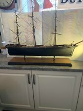 More details for antique model scottish clipper,c 1865,dockyard model,mahogany stand,great detail