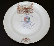 GEORGE V SILVER JUBILLE COMMEMORATIVE PLATE. COVENTRY CREST. MAYOR FRISWELL