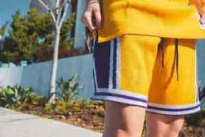 Mitchell & Ness CLOT X Merino Lakers Knit Shooting Shorts