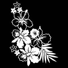 Hibiskus XXL Wandtattoo Auto Aufkleber Blumen Wunschfarbe