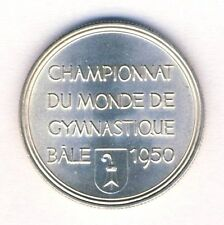 1950 WORLD GYMNASTICS Championships PARTICIPANT MEDAL Basel BALE