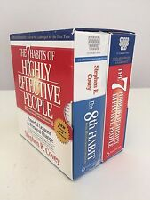 7 HABITS OF HIGHLEY EFFECTIVE PEOPLE + 8TH HABIT UNABRIDGED 26 CDs + 1 DVD 28 HR