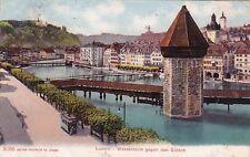 SVIZZERA - Luzern/Lucerne - Wasserturm gegen den Gütsch 1907