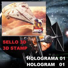 STAR WARS 3D STAMPS SPAIN 2018 HAN SOLO SELLO FILATÉLICO 2018 GUERRA GALAXIAS