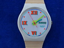 MONTRE / Watch - VINTAGE - SWATCH CW701 SHORT LEAVE 1990 - A REPARER / To repair
