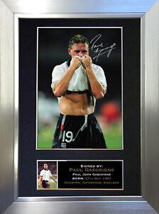 PAUL GASCOIGNE Gazza Signed Autograph Mounted Photo Repro A4 Print 313