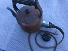Vintage Swan Brand Electric Kettle-  Kettle Copper & Bakelite With Lead - Works