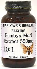 BOMBYX MORI EXTRACT 10:1 - Good Vasodilator - Stearate Free, Bottled in Glass!