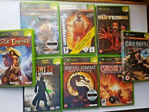 XBOX Retro Video Games Original UK Release INCLUDES  Amped 2 interesting titles