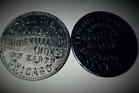 2 chicago lyceum theatre vaudeville tokens token minstrels coins
