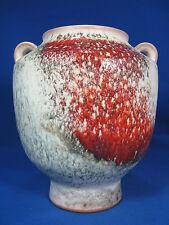Karlsruher Majolika pottery / Keramik vase 7589 with a beautiful glaze  20 cm