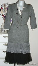 NOA NOA Mohair STRICK JACKE - Hastings Knit S 36 - rug melange - NEU grey