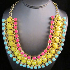 NEW Urban Anthropologie Perla Twist Yellow Pink Teal Necklace
