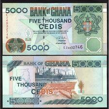 GHANA 5000 Cedis 2006 UNC Pick 34 j
