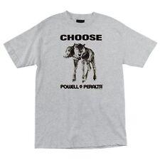 Powell Peralta Choose 2 Headed Cow Skateboard T Shirt Ash Xl