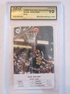 1988 KARL MALONE #16 MINT GRADED GEM-MT 10 BASKETBALL CARD    BOX W