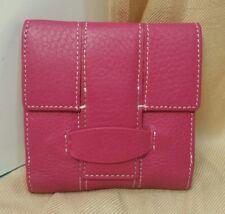 NEW Ann Taylor Womens Wallet Pink Genuine Leather Organizer (4 x 4)
