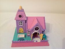 1993 VINTAGE POLLY POCKET WEDDING CHAPEL WITH LIGHTS Bluebird Toys